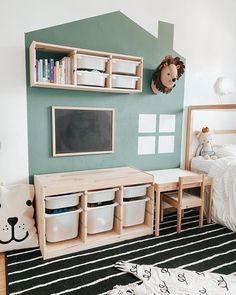 """Laura ✨ Canadian Blogger ✨ su Instagram: """"Do your kiddos share a room? Our current home has 3 bedrooms upstairs so two of our kids have to share. Originally we tried putting our…"""" Our Kids, Entryway Bench, Playroom, Kids Room, Moodboard, Furniture, Ikea Hacks, Home Decor, Bedrooms"""