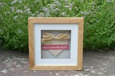 Handcrafted Home is where the heart is Picture £25.00