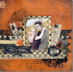 Lynn has used the Enchanted range to create this fantastic halloween themed layout.