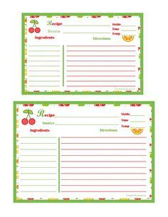 kitchen gadgets recipe card 8 1 2 x 11 recipe template