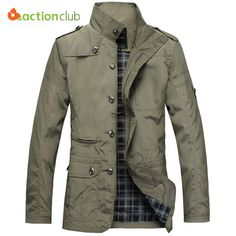 91c82d49e81 ACTIONCLUB Fashion Thin Men Jacket Coat Hot Sell Casual Wear 5XL Korean  Comfort Spring Autumn Overcoat
