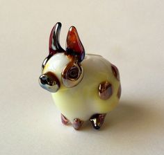 Looks just like CARNIVAL  glass  Rabbit Bead lampwork focal