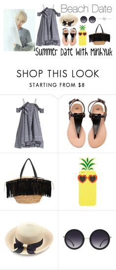"""""""Beach Date #2"""" by suni-love on Polyvore featuring MSGM, Sun N' Sand, Charlotte Russe, Alice + Olivia, date, minhyuk and monstax"""