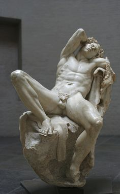 The sculpture was either carved by an unknown Hellenistic sculptor of the Pergamene school, in the late third or early second century BCE or is a Roman copy of high quality, though its present form was given it by a series of restorers in Rome, ending with Vincenzo Pacetti.