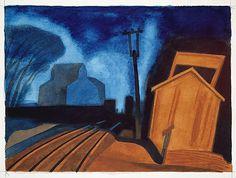 Oscar Bluemner (1867-1938) - Flag Station, Elizabeth, New Jersey, 1925