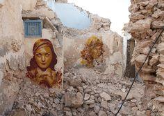 Btoy - Djerbahood.Ruinhousedetail.Tunisia2014