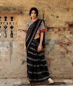 Women's Cotton Saree With Blouse Piece Anarkali, Churidar, Lehenga, Cotton Blouses, Cotton Saree, Lace Saree, White Saree, Indian Dresses, Indian Outfits
