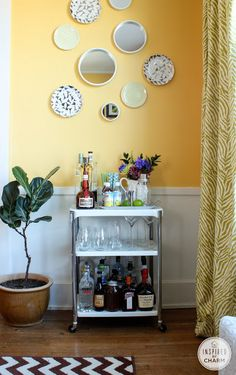 Inspired by Charm: Bar Cart Styling