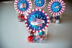 We always have a July 4th celebration at our house. Great favor for the kids. Free printable.