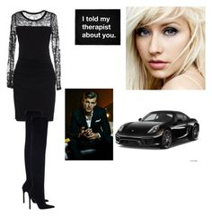 """Therapist"" by harleenquinnzelllllll ❤ liked on Polyvore featuring Velvet, Porsche and Zara"