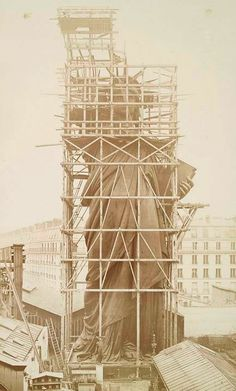The Statue of Liberty under construction in France