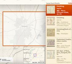 gettysburg map old maps online