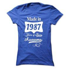 1987  Years Of Being Awesome T Shirt, Hoodie, Sweatshirt