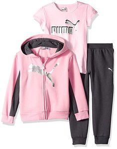 a485241b5  PUMA Little Girls  3 Piece Fleece Set 60% Cotton
