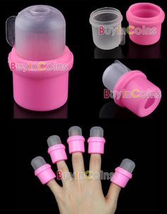 10 Wearable Nail Soakers. Ideal for removal of glitter nail polish & Shellac! Love this!! :)