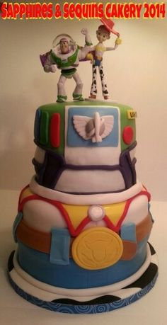 Toy Story Inspired Cake. Sapphires & Sequins Cakery