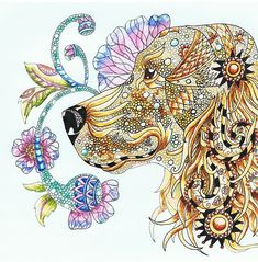 Zentangle Cocker Spaniel | Zentangle Cocker Spaniel Print by Joan Williams