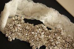 millie Icaro VIVA SET Heirloom Handbeaded Bridal Garter SET