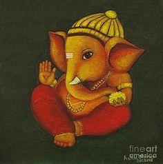 25 Beautiful Paintings Of Lord Ganesha Ganesha Lord And