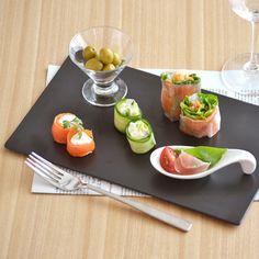 EASTオリジナルフラットプレート29cm(黒マット)(アウトレット込み)黒い食器/おもてなし食器/角皿/前菜皿/スクエア/長角皿