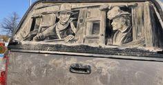 Cuando un coche sucio se convierte en una obra de arte