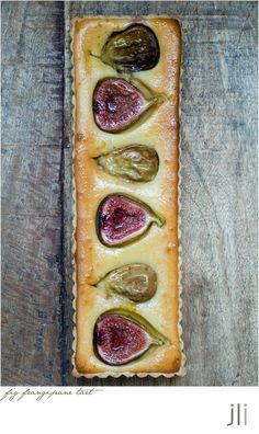 FIG FRANGIPANE TART ~~~ there are two links about this beautiful, beautiful fig tart. her first attempt and write-up are at this post's link and the recipe share is at jillianleiboff. Fig Recipes, Tart Recipes, Sweet Recipes, Dessert Recipes, Cooking Recipes, Vegetarian Recipes, Recipes Dinner, Sweet Pie, Sweet Tarts