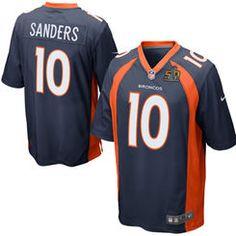 Denver Broncos #10 Emmanuel Sanders Navy Super Bowl 50 Bound Game Jersey