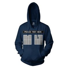 Doctor Who Be the TARDIS Hoodie | Vintage TV Show Shirts and other apparel, accessories and trends. Browse and shop 8 related looks.
