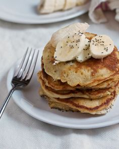 Peanut Butter Pancakes with Banana & Chia