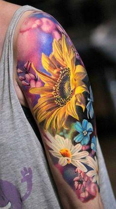 Trendy Ideas For Flower Art Ink Beautiful Tattoos Up Tattoos, Future Tattoos, Body Art Tattoos, Tattoos For Women, Tatoos, Tattoo Henna, Diy Tattoo, Tattoo Moon, Lotus Tattoo