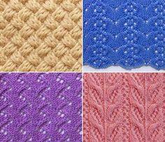 Нашла на Одноклассниках четыре симпатичных узора, которые могут пригодиться тем, кто вяжет спицами. Сохранять узоры проще простого, так как на одной картинке сразу и образец узора, и схема вязания, и… Knitting Stitches, Knitting Patterns, Knitting Ideas, Lacemaking, Tatting, Knit Crochet, Quilts, Blanket, Rugs