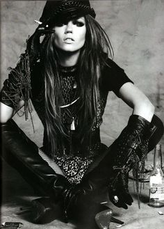 edgy boho | rock n roll | style | leather | cigarette | editorial | fashion
