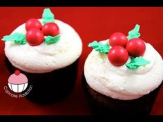 Christmas Cupcakes - Learn how to make these delicious treats, and heaps more at the Mycupcakeaddiction YouTube channel!