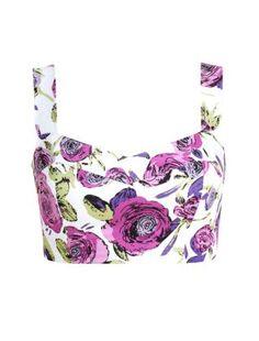 Pop Art Purple Floral Crop Top  £24.99