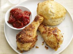 Drumsticks With Biscuits and Tomato Jam (I want to make this jam)