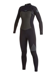 roxy, 4/3mm Syncro GBS Chest Zip Fullsuit, Jet Black (kvd0)