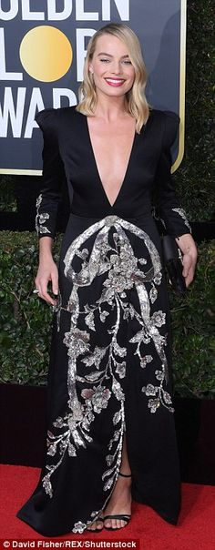Showing her solidarity: The Australian actress joined the rest of Hollywood in wearing bla...