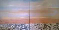 Large Painting 180cm x 90cm , dual canvas , Fowey River , oil, glaze, oil stick. Preview ++++ Fowey Arts Trail+++++ Nathan Davies Art