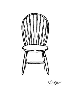 Sketch of Thonet Chair by Conran Have a Seat Pinterest Sketches