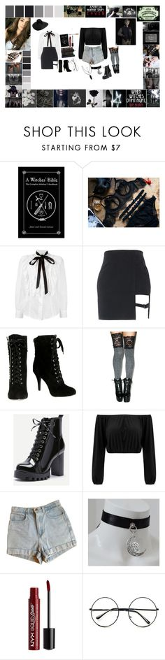 """American horror stories Coven: Caroline Liu"" by silentdoll ❤ liked on Polyvore featuring Coven, GET LOST, Marc Jacobs, Leg Avenue, American Apparel, Charlotte Russe, Retrò and Hot Topic"