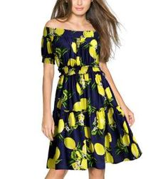 Can you believe this lemon-print dress is from Walmart? It's so cute you'll want... - Walmart