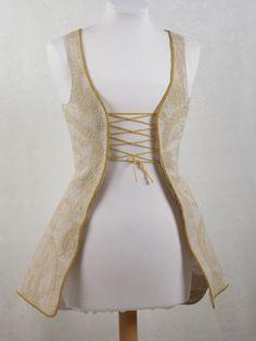 Lady's waistcoat, 1702-1727. Flannel, linen, silk. Killerton Fashion Collection © National Trust / Sophia Farley and Renée Harvey