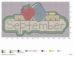 SEPTEMBER *BACK TO SCHOOL* by TRICIA*PIGSNKISES -- WALL HANGING