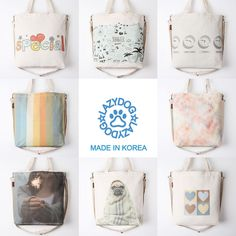 New Women Fashion Canvas Cross Body Shoulder Bag Handbag Tote Bag Eco Bag #LazydogKorea #ShoulderCrossBody