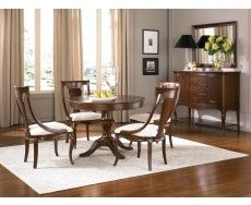Cherry Grove 5pc Round Dining Room Table Set