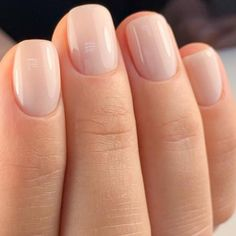Simple Bridal Nails, Wedding Nails For Bride Natural, Neutral Wedding Nails, Wedding Pedicure, Wedding Day Nails, Neutral Nails, Milky Nails, Champagne Nails, Fall Manicure