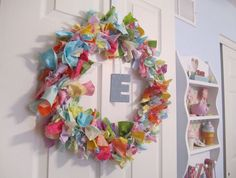 something to do with all those fabric scraps left over. day wreath diy fabric scraps Top 10 Crafts To Make This Week Crafts To Make, Crafts For Kids, Diy Crafts, Valentine Day Wreaths, Valentines, Holiday Wreaths, Triangulo Isosceles, Fabric Wreath, Wire Wreath