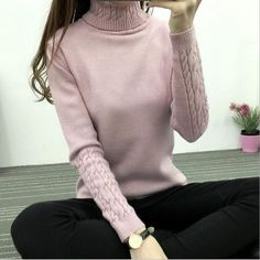 Special offer Refeeldeer Women Turtleneck Winter Sweater Women 2017 Long Sleeve Knitted Women Sweaters And Pullovers Female Jumper Tricot Tops just only $13.79 with free shipping worldwide  #womansweaters Plese click on picture to see our special price for you