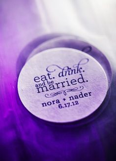 Personalized coaster ///// {Christie Rose Events}