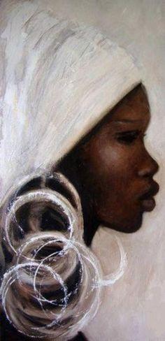Black Art Cross Stitch Pattern - African Art Cross Stitch - Printable Africa Art - African Embroidery - Digital African Print - PDF File in 2019 Black Girl Art, Black Women Art, Art Girl, Art Women, Black Art Painting, Black Artwork, Woman Painting, China Painting, Afrique Art